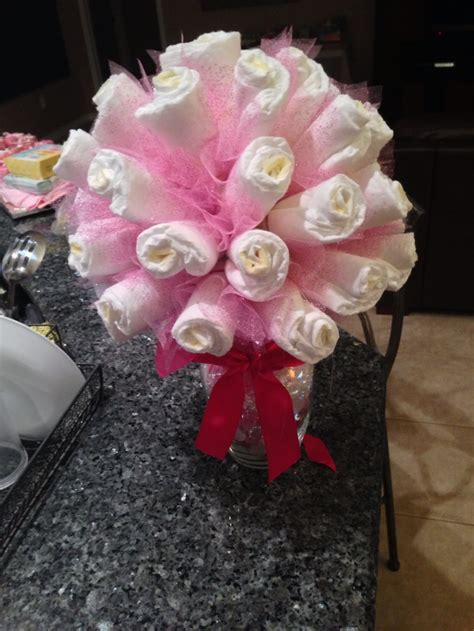 How To Make Baby Shower Centerpieces With Diapers by Baby Shower Bouquet Centerpiece Crafts