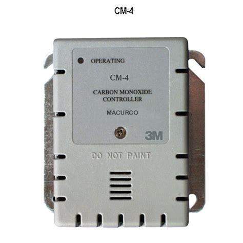 carbon monoxide exhaust fans macurco detection and ventilation control panel