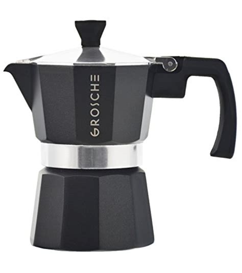 Osaka Percolator Coffee Teko Kopi Moka Pot Nijo Castle 3 Cup Black c w 6 cup espresso maker 226 finely crafted stainless steel 226 stay cool silicone handle and a