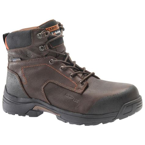 composite work boots carolina brown 6 lightweight composite toe work boots