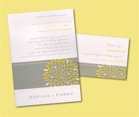 Wedding Invitations Yellow Paper by Top Wedding Invitation Trends Colors Patterns
