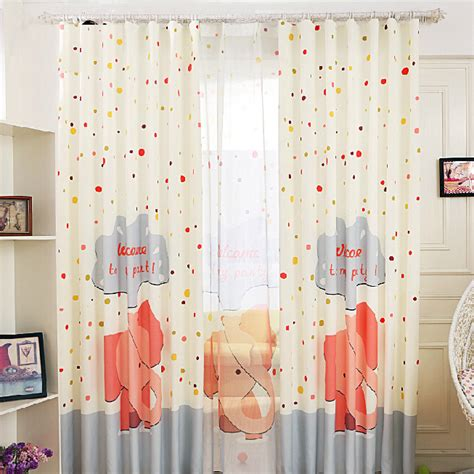 Unique Elephant White Blackout Nursery Curtains White Blackout Curtains For Nursery