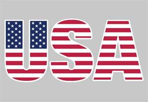 Usa star spangled vinyl lettering patriotic wall decals