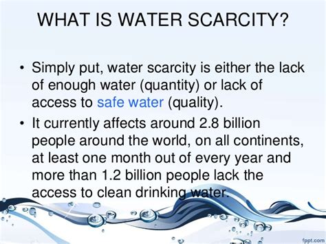 What Is Water Shed by Water Scarcity