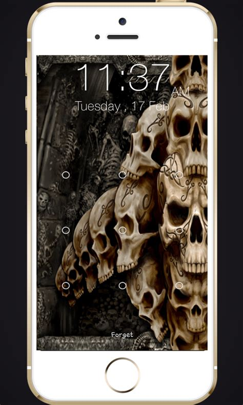 skull pattern lock screen amazon com skull pattern screen lock appstore for android