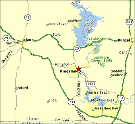 map of kingsland texas river oaks lodge on lake lbj kingsland texas