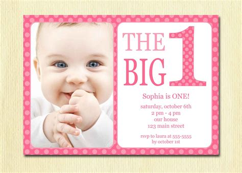 baby 1st birthday invitation card template baby birthday invitations bagvania free printable