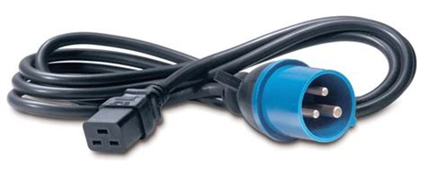 Apc Power Cord C13 To C14 2 5m apc c19 iec309 2 5m 2 5m iec 309 c19 coupler black power