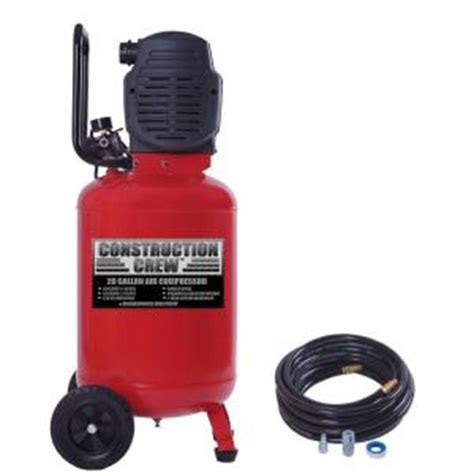 20 gal portable electric air compressor with 25 ft pvc