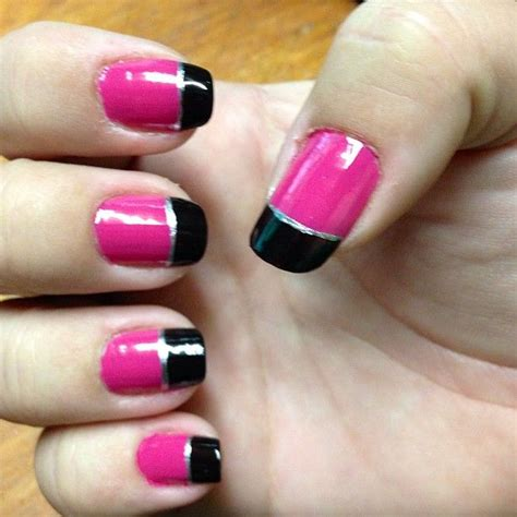 easy nail art black and pink easy black and pink nail art www pixshark com images