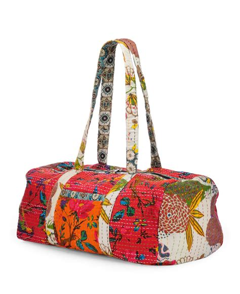 Patchwork Duffle Bag - vintage fabric patchwork duffle bag htd 132 duffles
