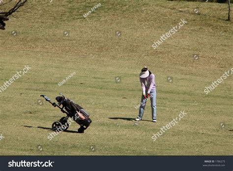 swing season 1 lady golf swing sequence series 1 of 6 stock photo