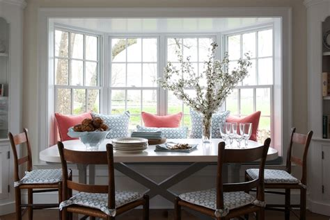 Bay Window In Dining Room ladder back chairs transitional dining room kerry