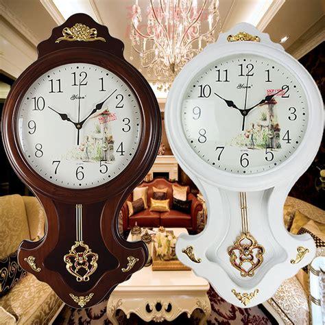 free shipping fashion antique fashion wood wall clock large pendulum clock silent modern