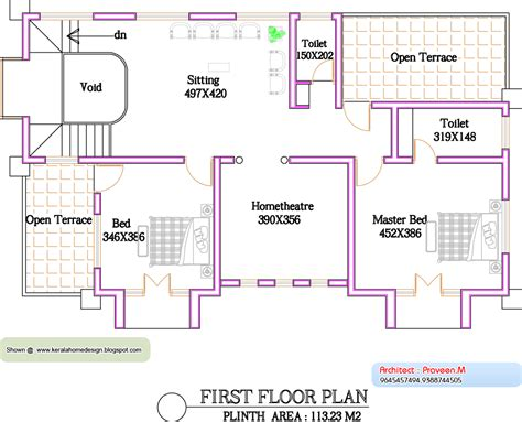 kerala home design floor plan kerala home plan and elevation 2800 sq ft kerala