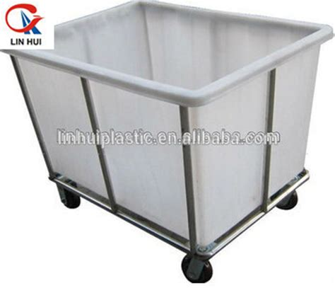 Durable 500l Commercial Plastic Industrial Laundry Cart Commercial Laundry On Wheels