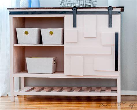 diy sliding barn door cabinet  drawers full plans