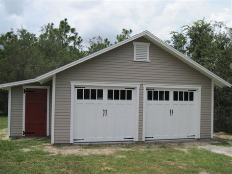 Shed Attached To Garage by 22 X24 Traditional Garage With Attached Workshop Traditional Garage And Shed Other Metro