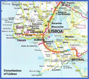 map of and surrounding areas lisbon map map travel vacations