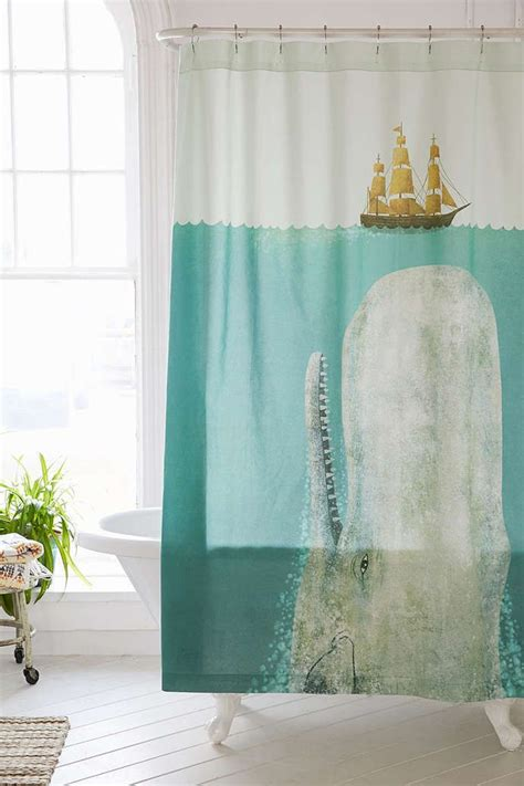 Outfitters Shower Curtain by Terry Fan The Whale Shower Curtain Outfitters
