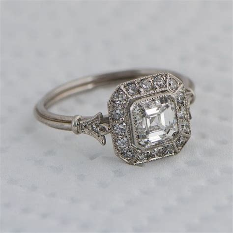 Antique Engagement Rings by Asscher Cut Engagement Rings Vintage Www Imgkid