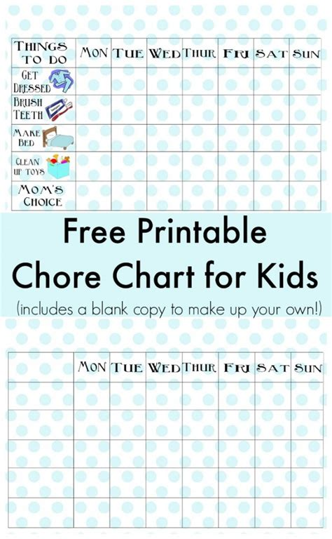 printable reward charts for 10 year olds free printable chore chart