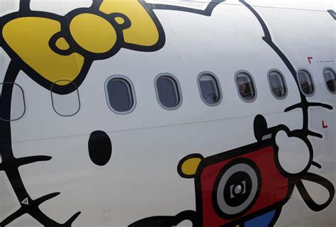 Legobrick Hello Air Plane Sanrio Brand flying the hello skies photo boing boing