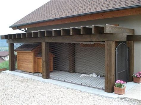 dog kennel in garage 52 best dog pens kennels images on pinterest kennel