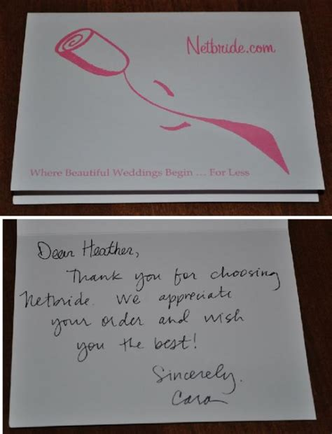 Thank You Letter Bridesmaids Netbride Thank You Note Weddingbee