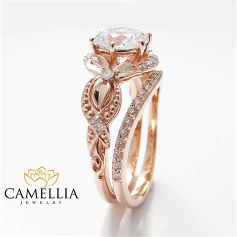 unique engagement ring 14k gold engagement
