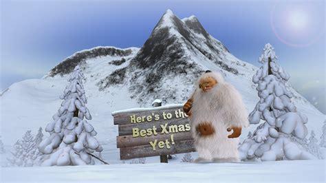 animated christmas card template  xmas yeti youtube