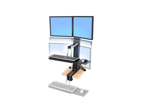 sit stand desk mount ergotron workfit s sit stand desk mount workwhilewalking