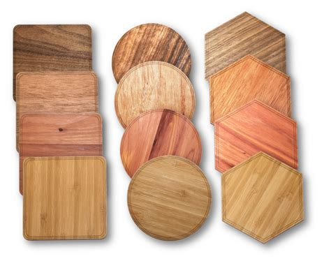 solid wood coasters  pack wood coasters wooden