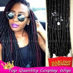 Synthetic soft dread braiding hair with black hair twist braid styles