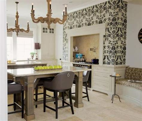 wallpaper ideas for kitchen how to decorate kitchen cabinets with wallpaper 5 guides