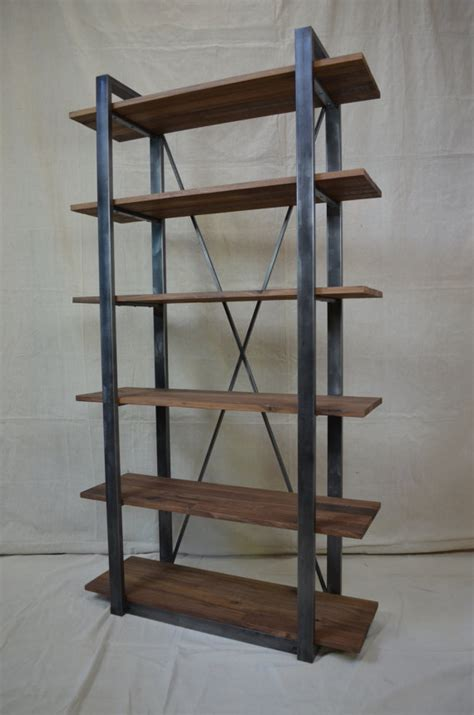 rustic industrial shelving industrial rustic shelving walnut and metal shelf