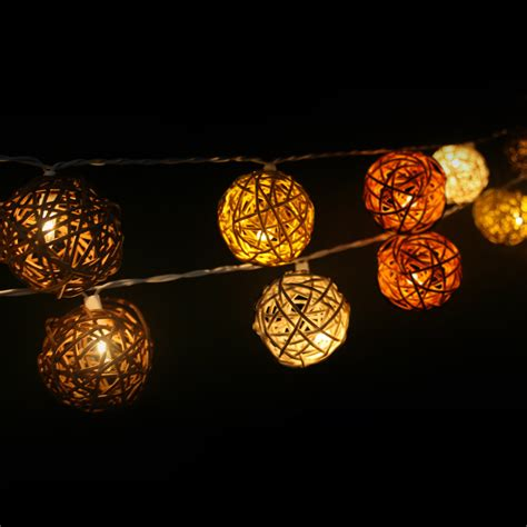 rattan string lights brown rattan string lights rattan creativity