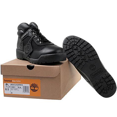timberland field boot mens 13061 black leather waterproof