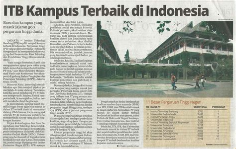 itb cus the best in indonesia education news