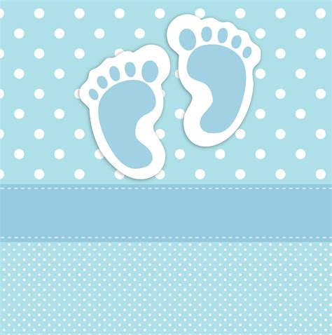 Baby Boy Card Template by Baby Footprints Card Template Free Stock Photo