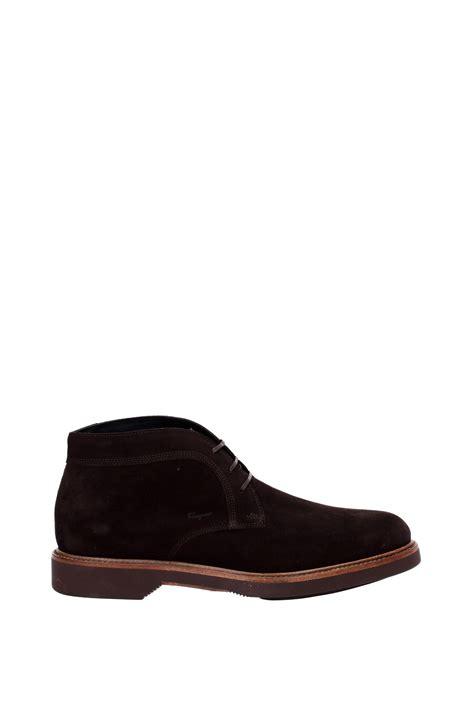 salvatore ferragamo mens boots ankle boots salvatore ferragamo suede brown