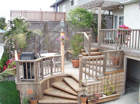 Small Backyard Deck Ideas Pleasant Outdoor Small Deck Designs Inspirations For Your Backyard Decks For Small Yards