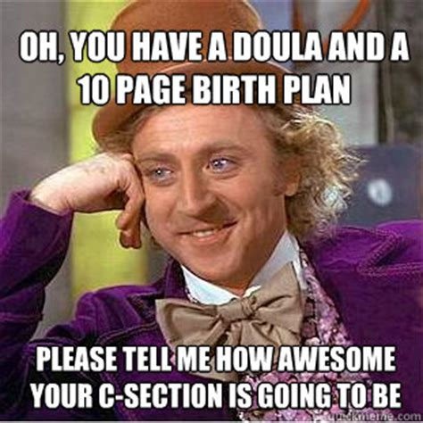 funny about me sections oh you have a doula and a 10 page birth plan please tell