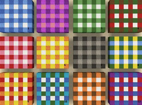 Minecraft Rug Designs More Using Wool To Make Plaid Carpeting Minecraft Project