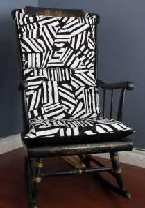 on sale rocking chair cushion quilted black white