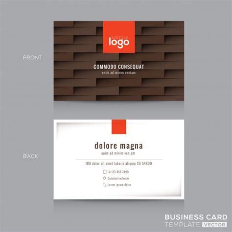 Moderne Visitenkarten Vorlagen moderne braune visitenkarte visitenkarte design vorlage der kostenlosen vektor