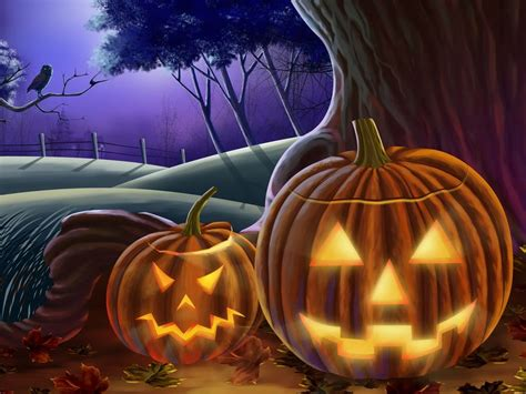 Halloween wall papers and flash templates free download