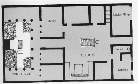 plan of a roman house geography 380 maps