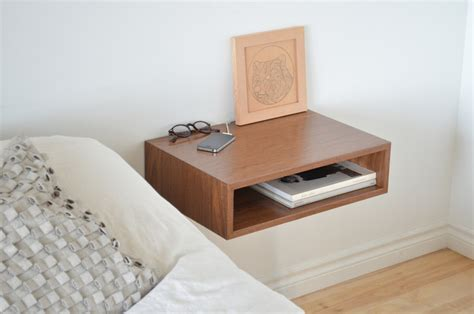 End Table Ls For Bedroom Floating End Table Nightstand Solid Walnut Bedroom Bedside