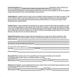 medical waiver forms free sample example format student nomination form template buy online